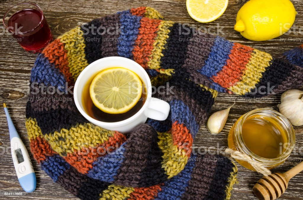 home kit for the treatment of diseases. stock photo