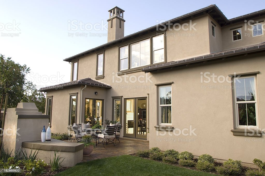 Home Landscaping Design House stock photo