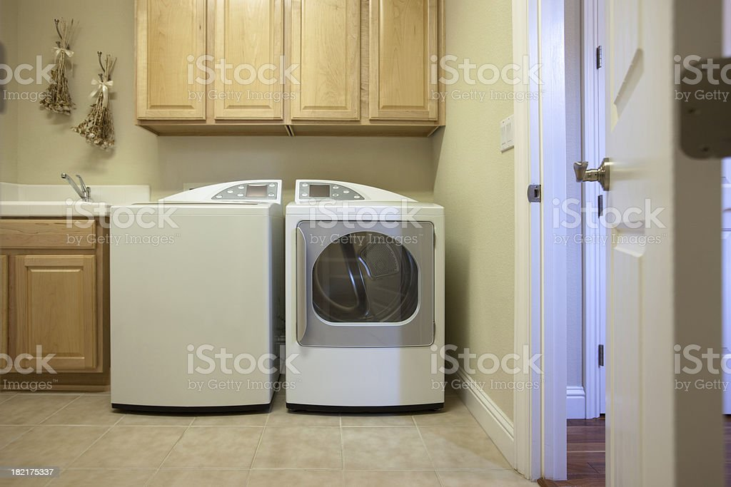 Home Laundry Room stock photo