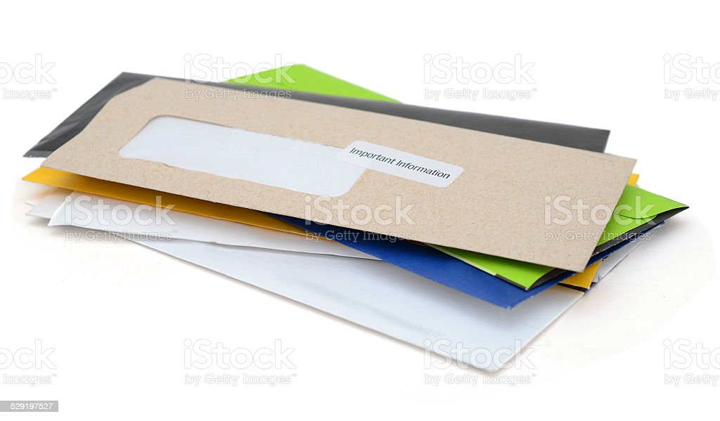 home letter mails stock photo