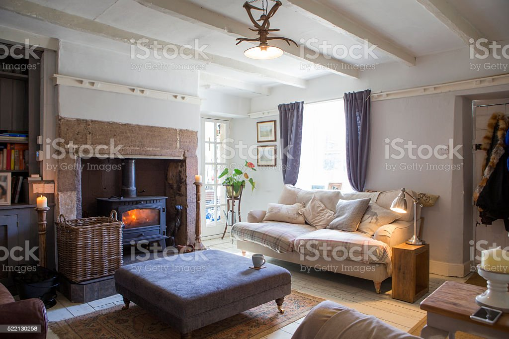 Home Living Room stock photo