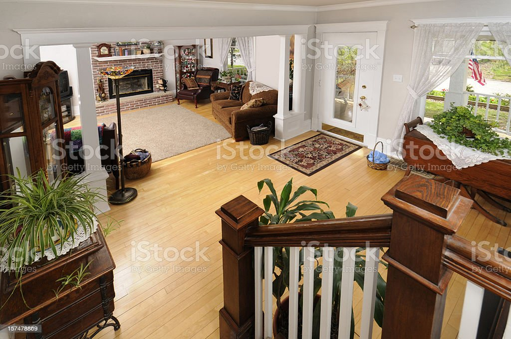 Home Living Room, Realtor Open House Sale, Booties By Door royalty-free stock photo