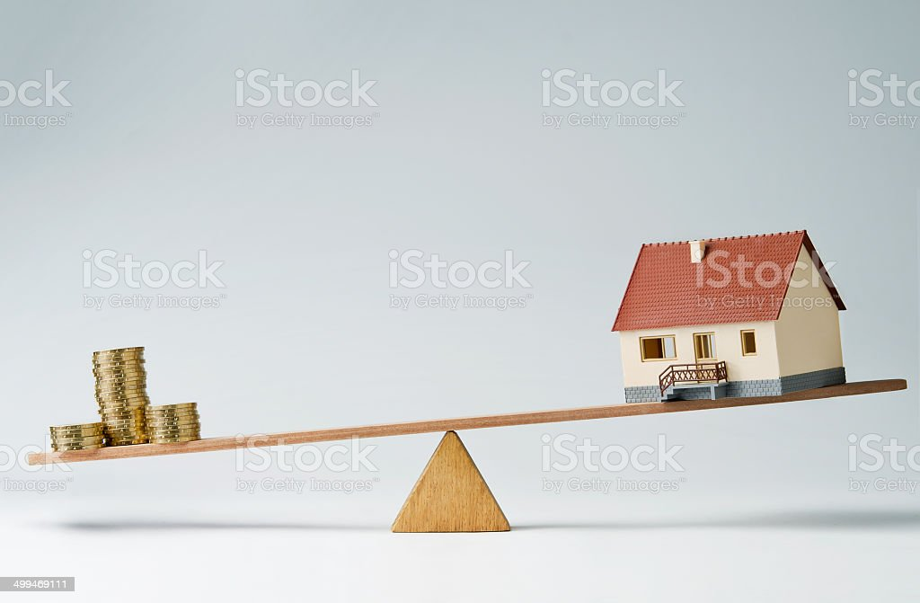 Home loans market stock photo