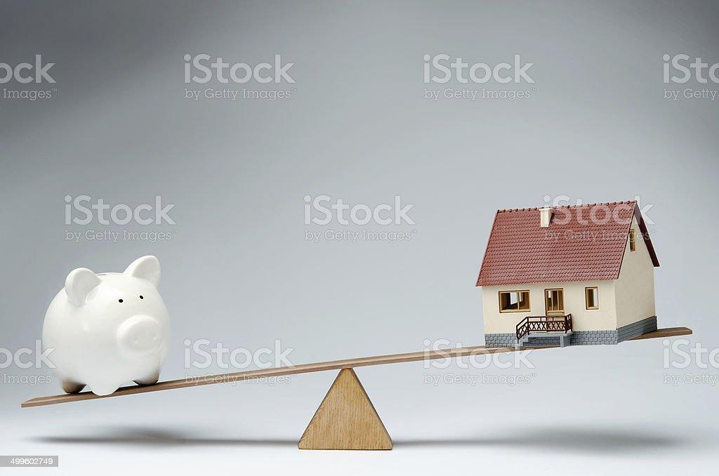 Home loans market stock photo