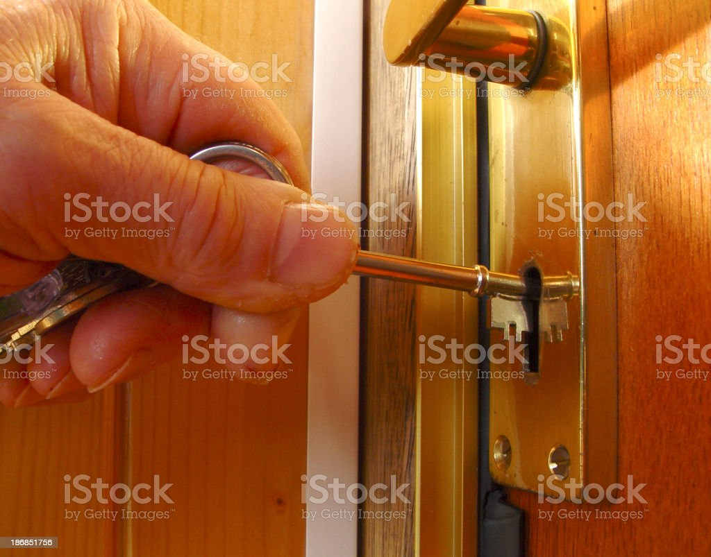 Home Lock It Up royalty-free stock photo