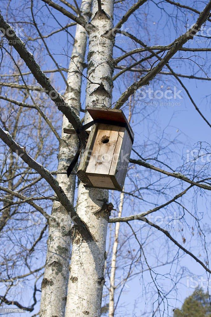 Home made birdhouse royalty-free stock photo