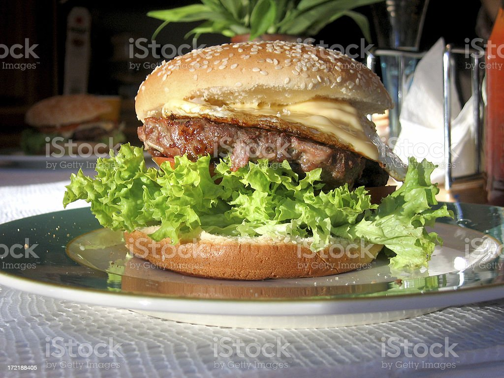 Home made Burger royalty-free stock photo
