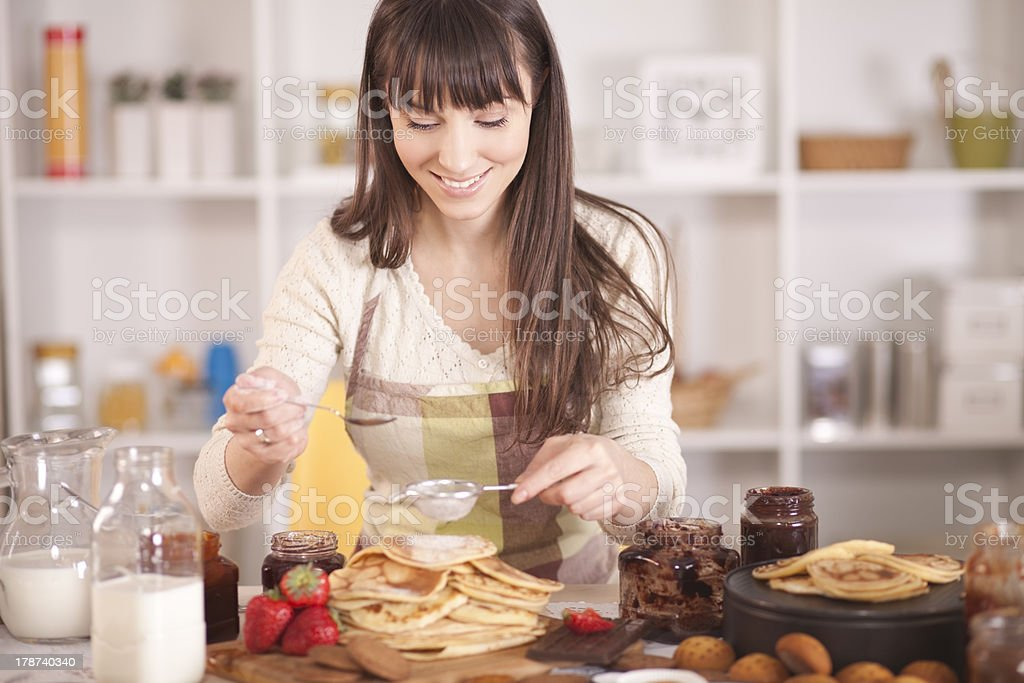 Home made cookies,pancakes,gingerbread and biscuit. stock photo