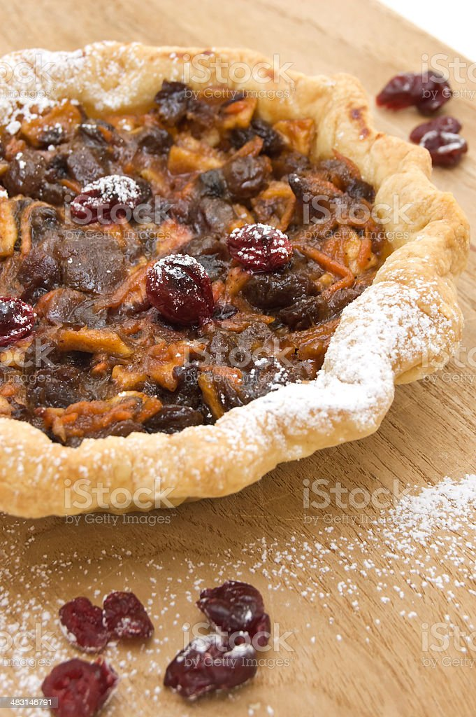 Home Made Dessert Baked Pecan and Fruit Pie royalty-free stock photo