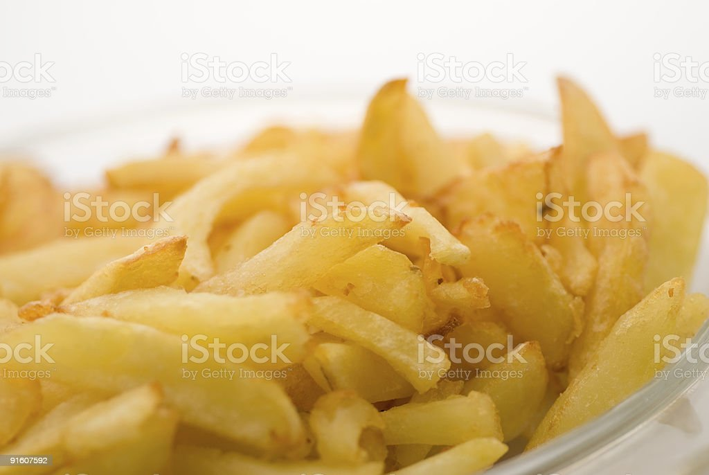 home made french fries or frites stock photo