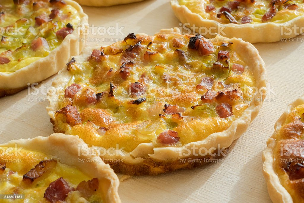 Home made French quiche lorraine stock photo