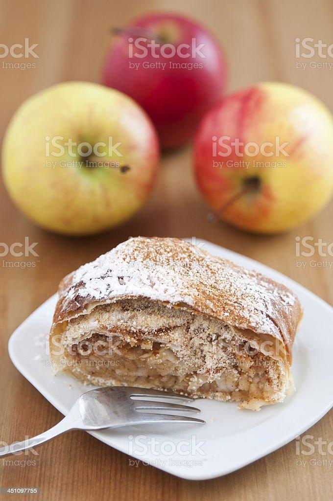 Home made German Apple Strudel stock photo
