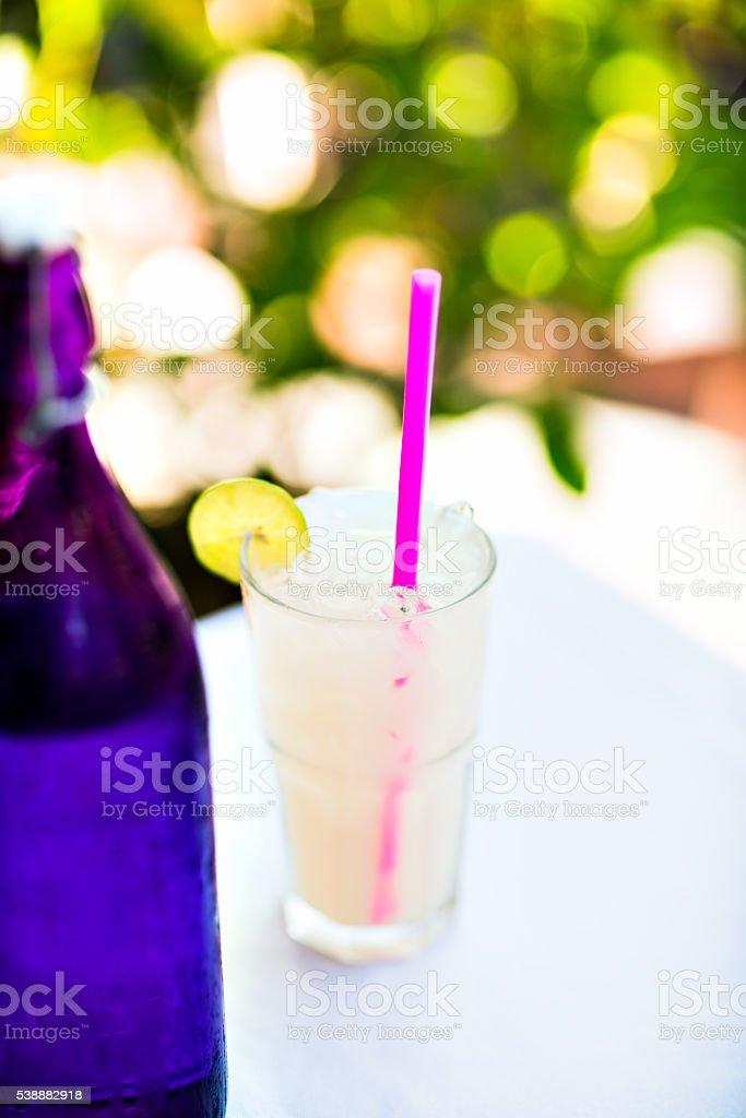 Home made healthy vitamin-fortified lemonade stock photo