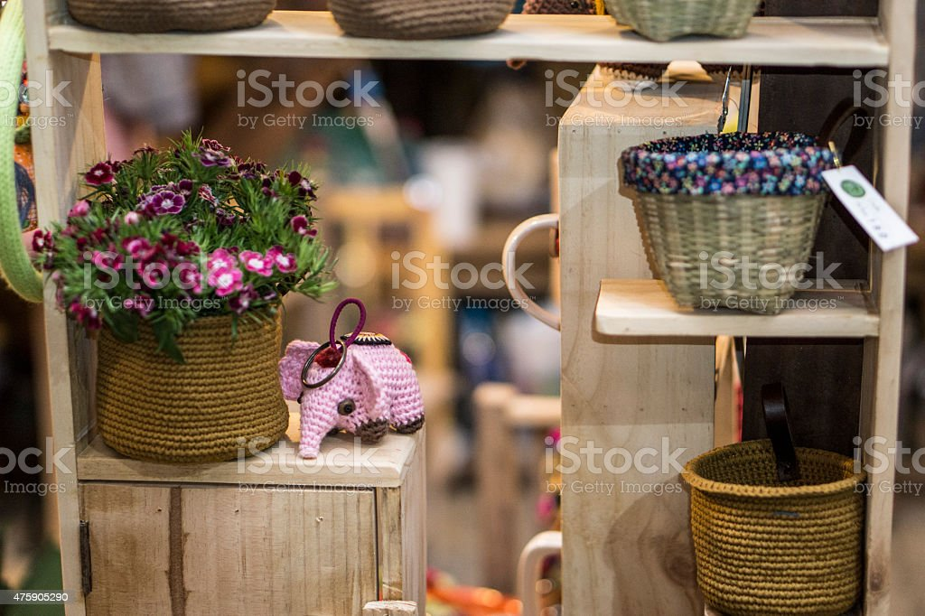home made house decoration items royalty free stock photo