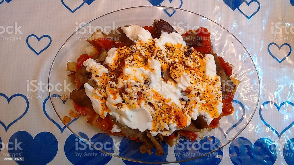Home made Iskender stock photo