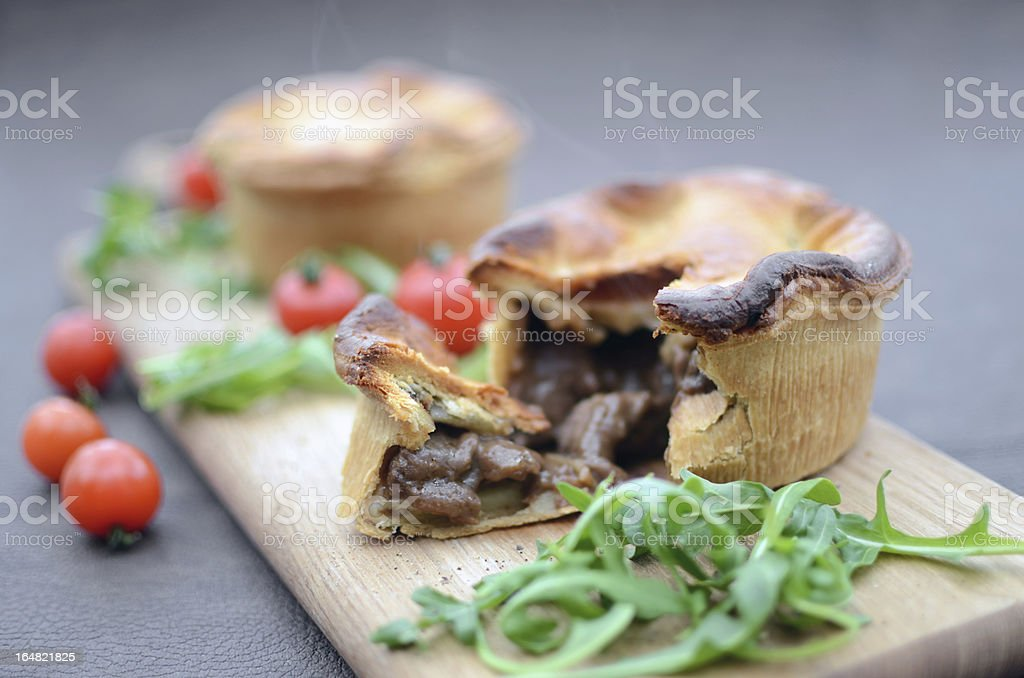 Home Made Meat Pie stock photo