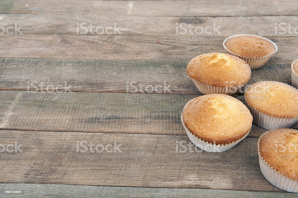 Home made muffins royalty-free stock photo