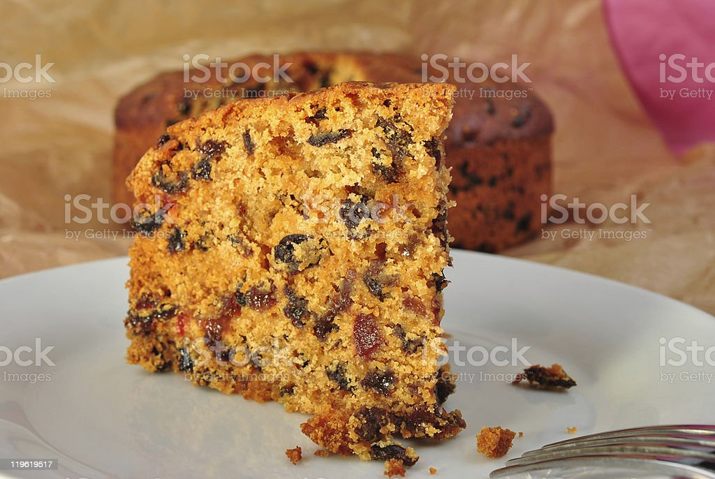 home made organic christmas cake with fruit royalty-free stock photo
