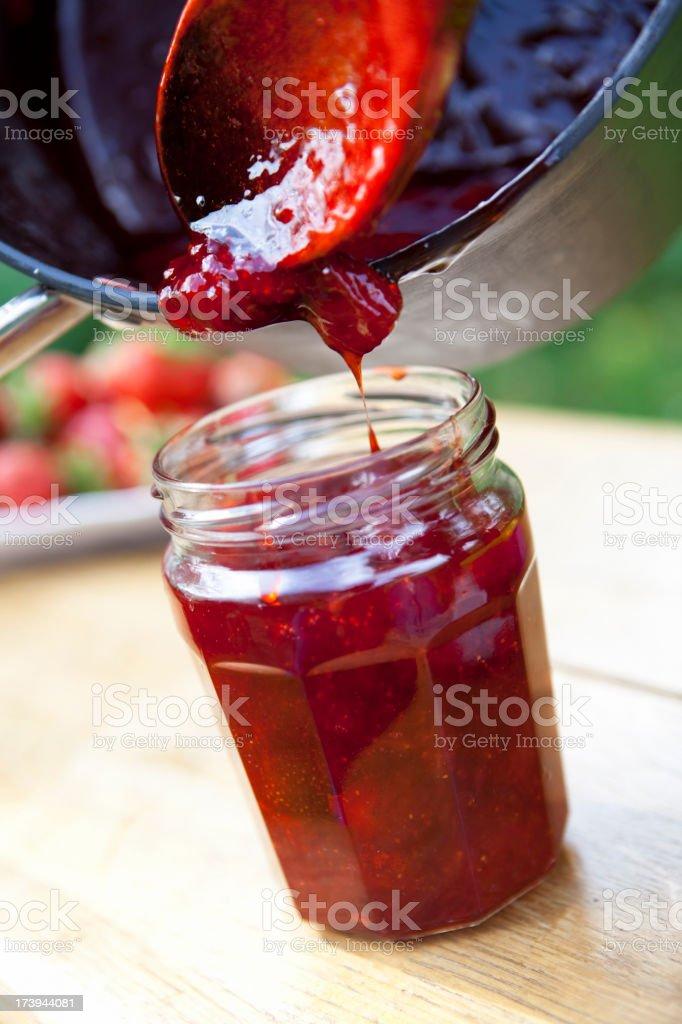 Home Made Organic Strawberry Jam royalty-free stock photo