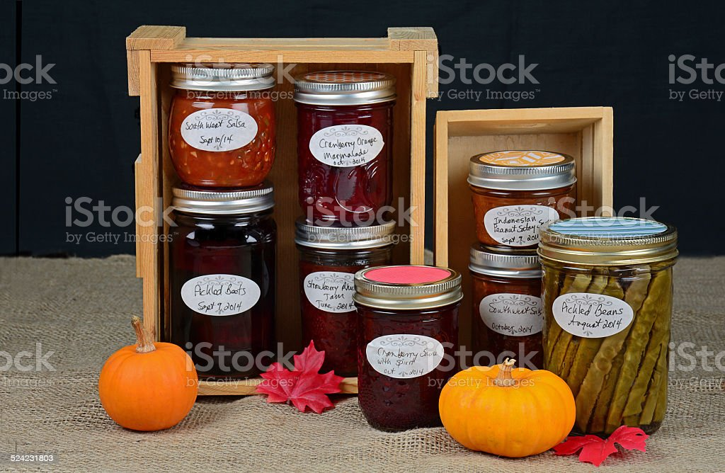 Home made preserves stock photo