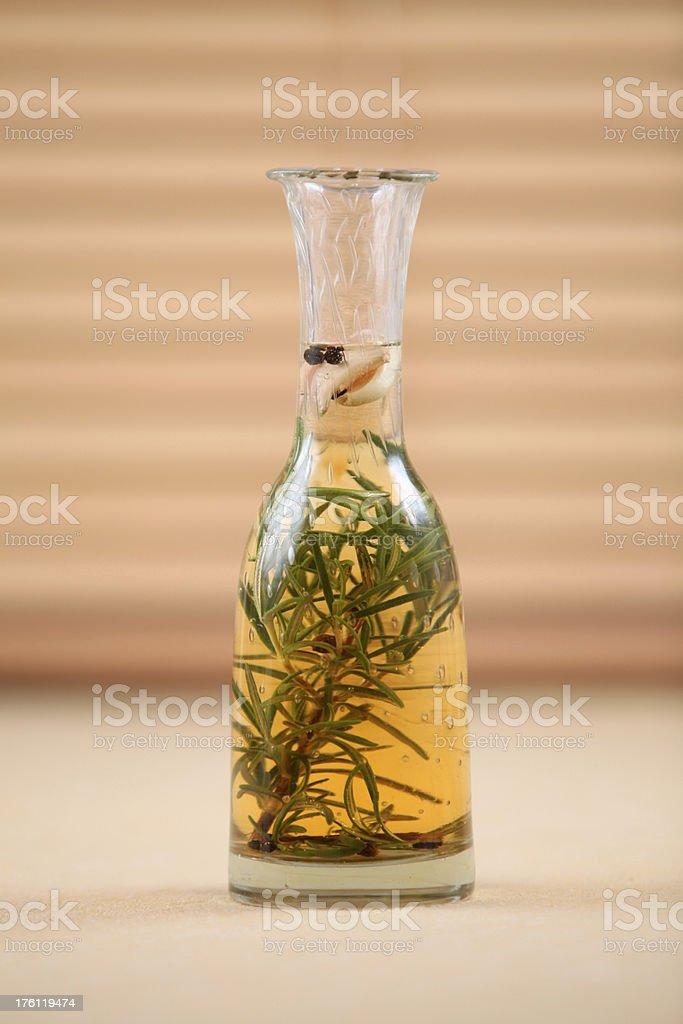 Home made rosemary vinegar royalty-free stock photo
