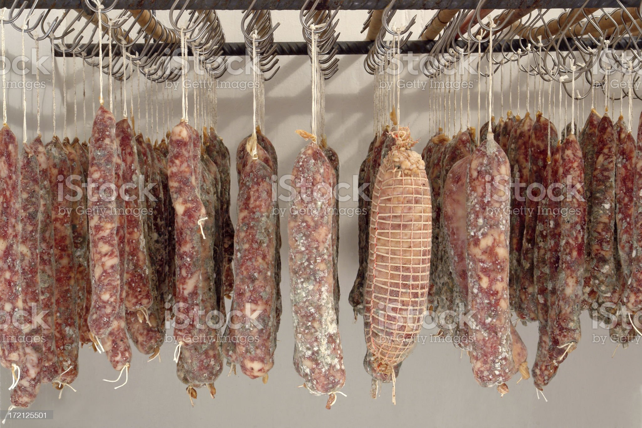 Home made salami royalty-free stock photo