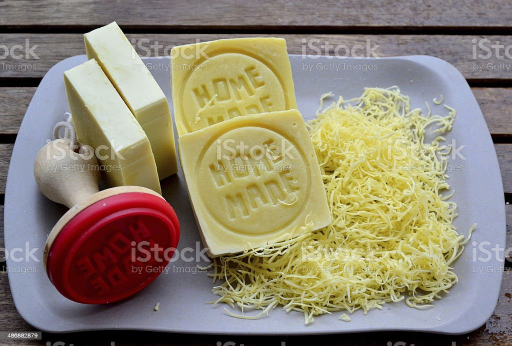 Home made soap, Sapone stock photo