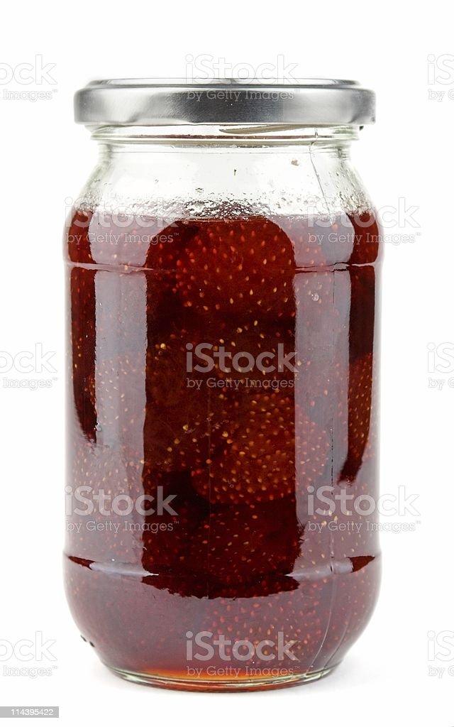 Home Made Strawberry jam stock photo