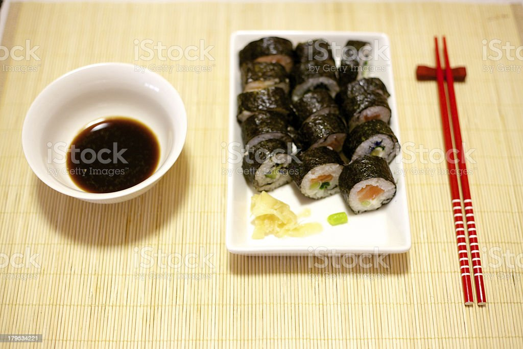 Home made sushi royalty-free stock photo