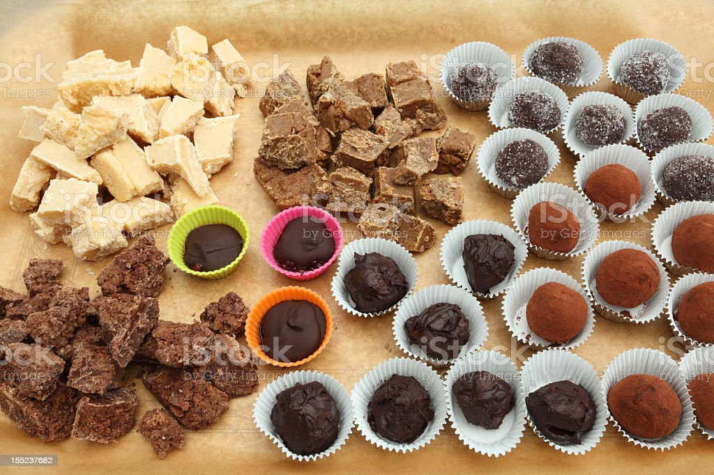 Home made sweets royalty-free stock photo