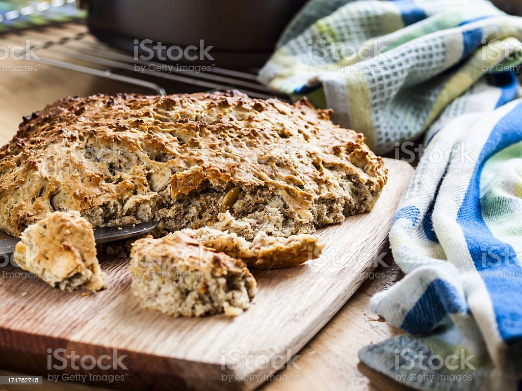 home made wheaten bread stock photo