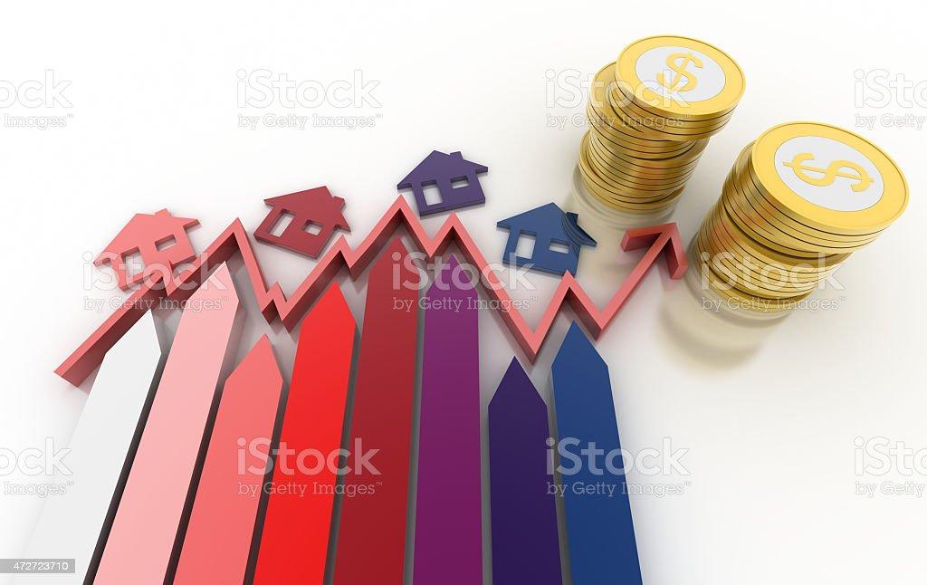 Home market concept stock photo