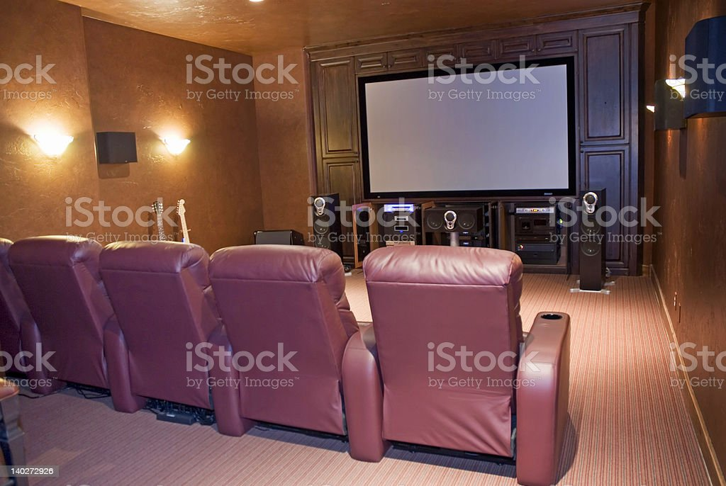 home media room stock photo