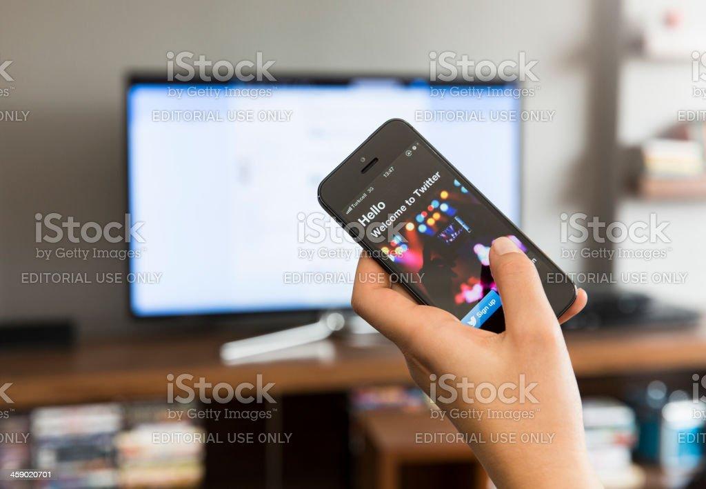 Home media sharing technology royalty-free stock photo