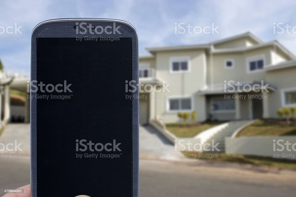 Home monitoring system stock photo