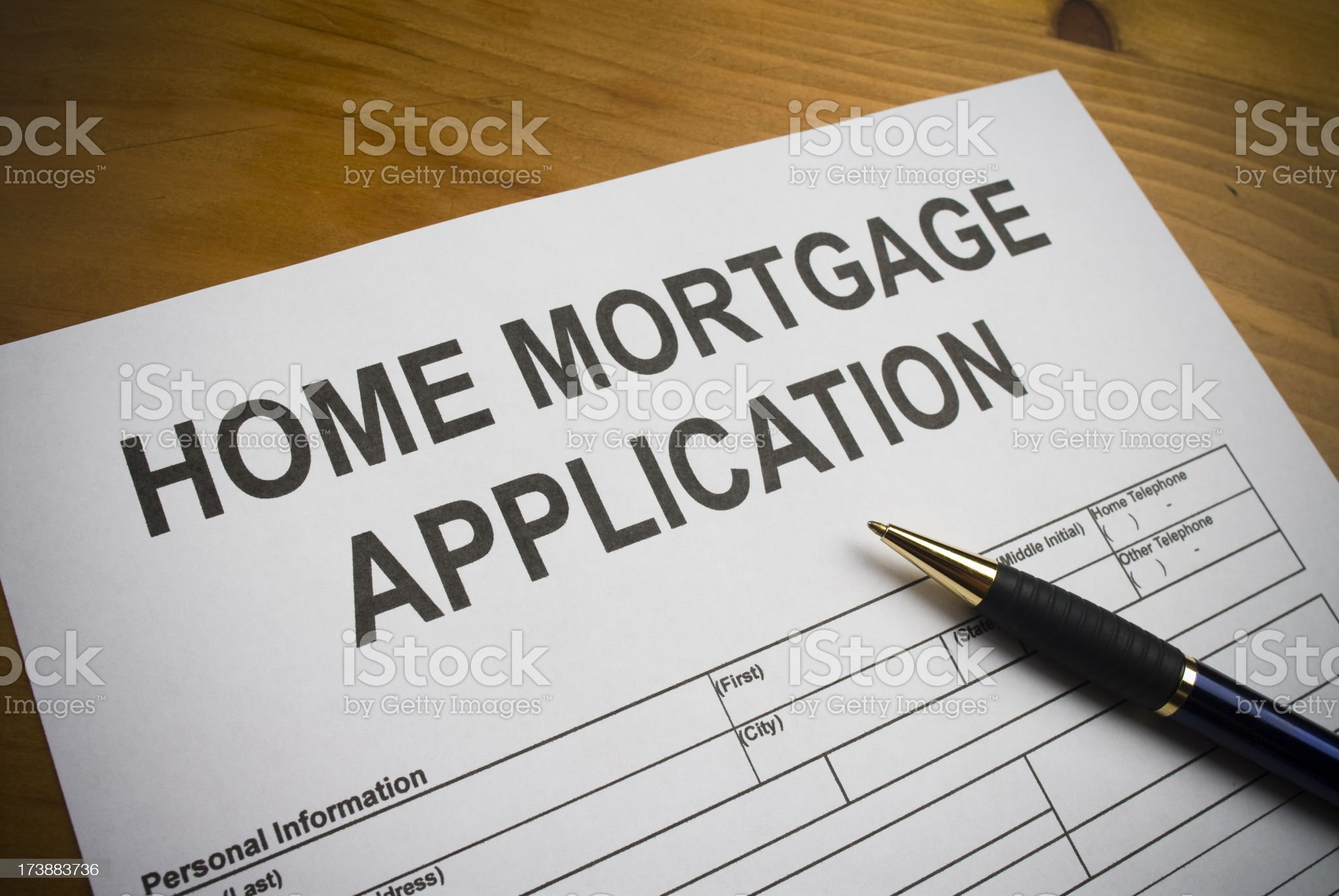Home Mortgage Application royalty-free stock photo