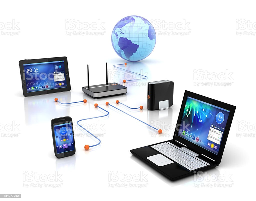 home network online router stock photo