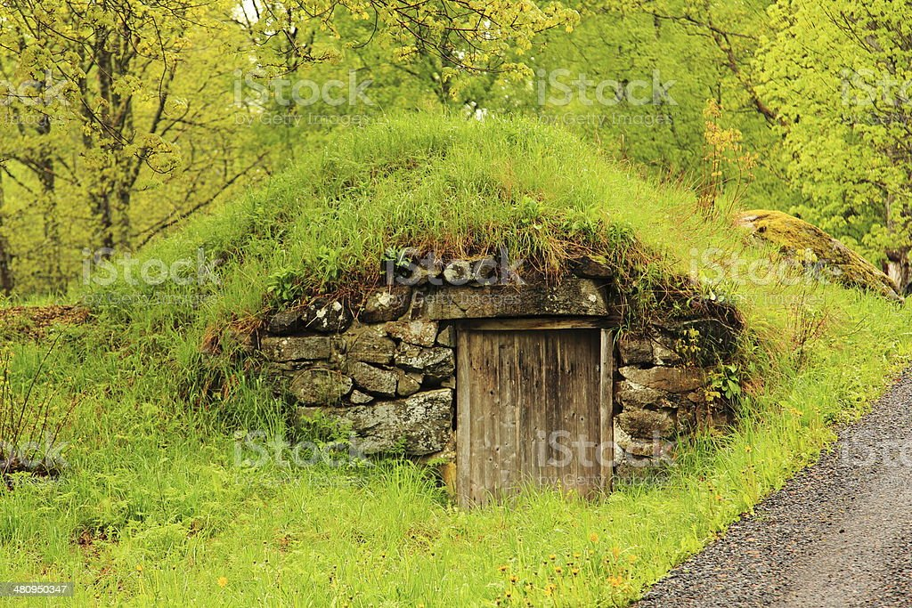 Home of Hobbit or ? stock photo