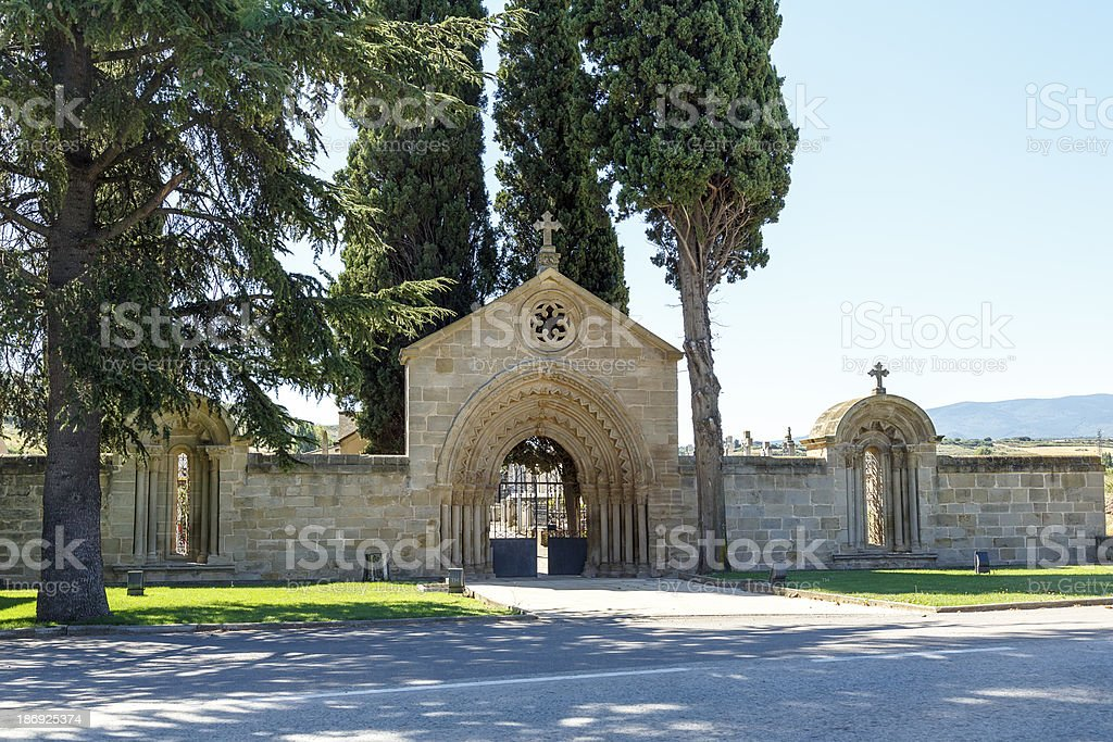 Home of the monastery San Juan de Acre, Navarrete royalty-free stock photo