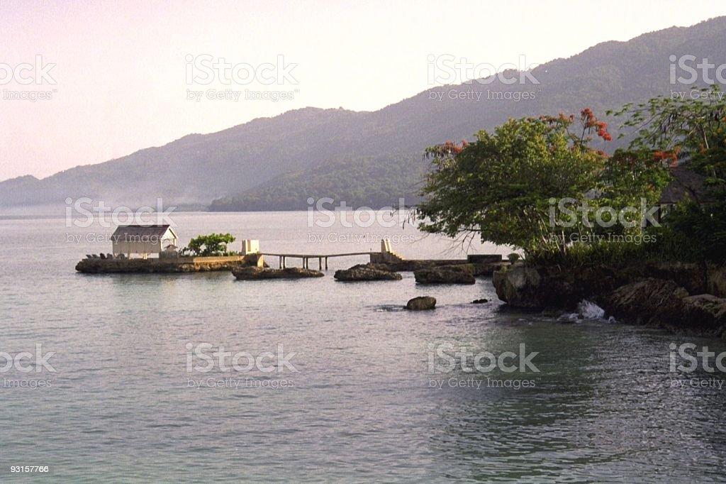 home off coast of jamaica royalty-free stock photo