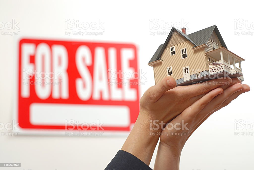 Home offerred for sale royalty-free stock photo