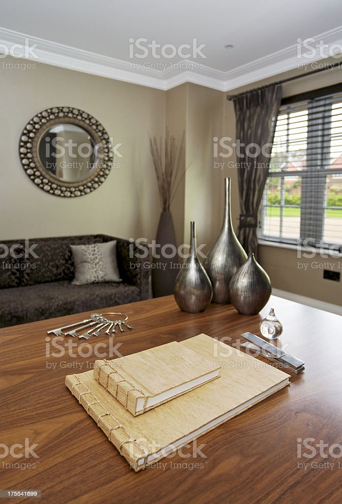 home office desk royalty-free stock photo