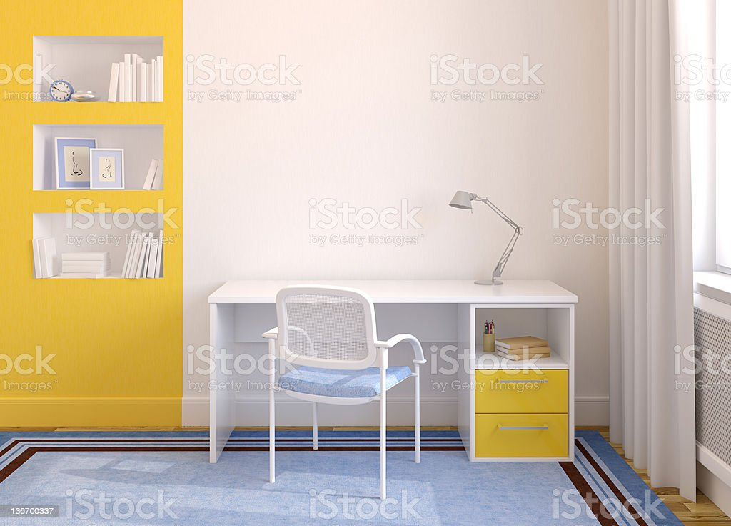Home office interior. royalty-free stock photo