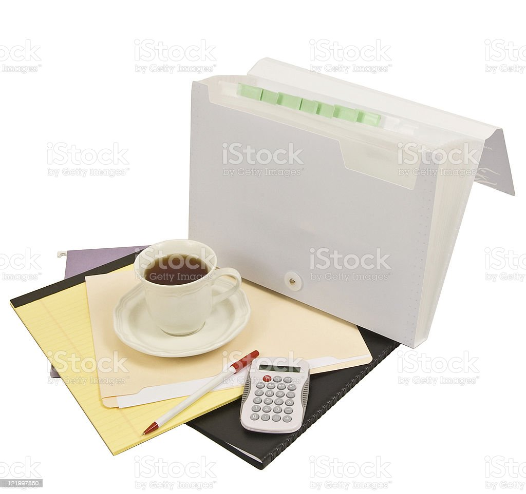 Home Office Morning royalty-free stock photo
