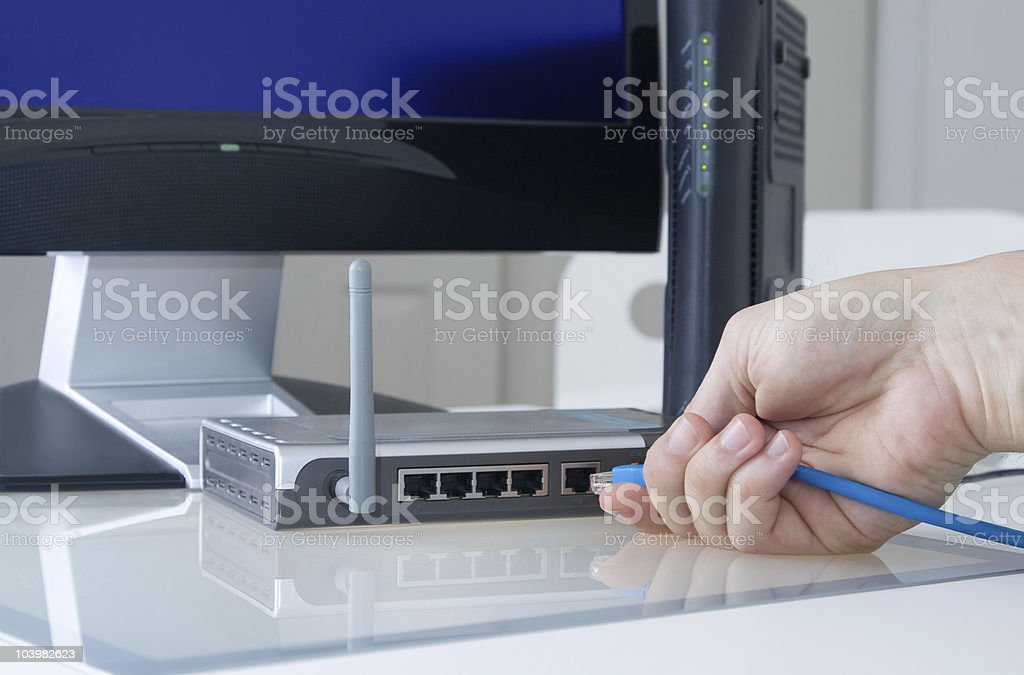 Home Office Network royalty-free stock photo