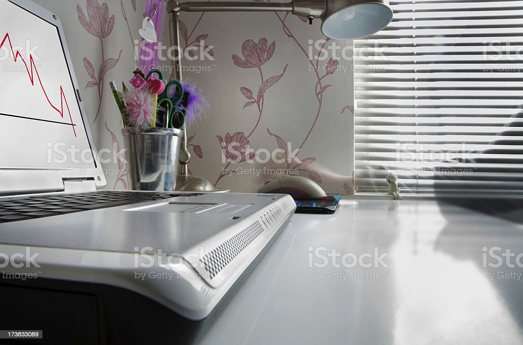 Home Office with Motion Blur royalty-free stock photo