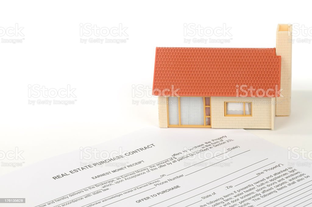 Home on Contract stock photo