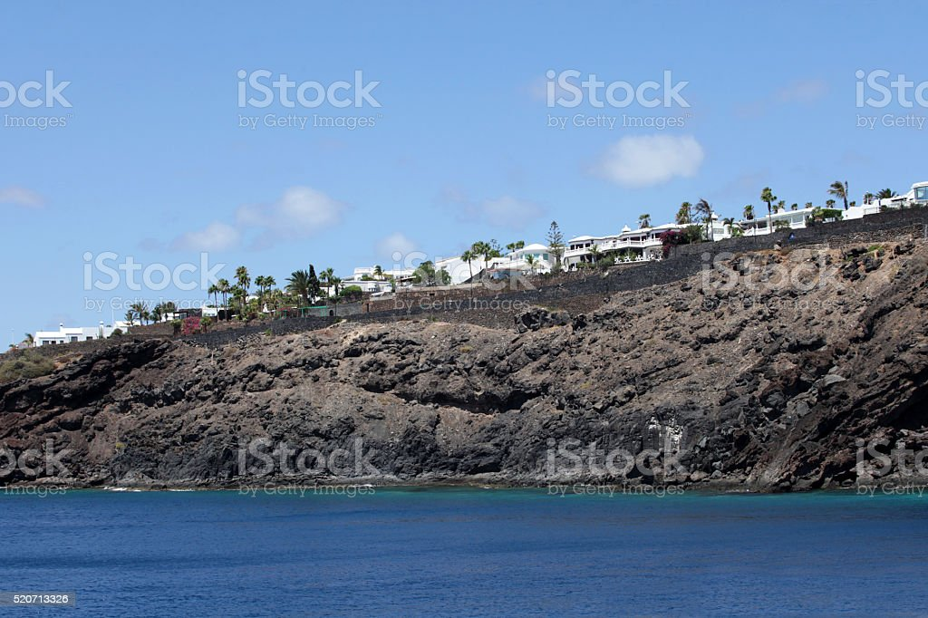 Home on the cliffs stock photo
