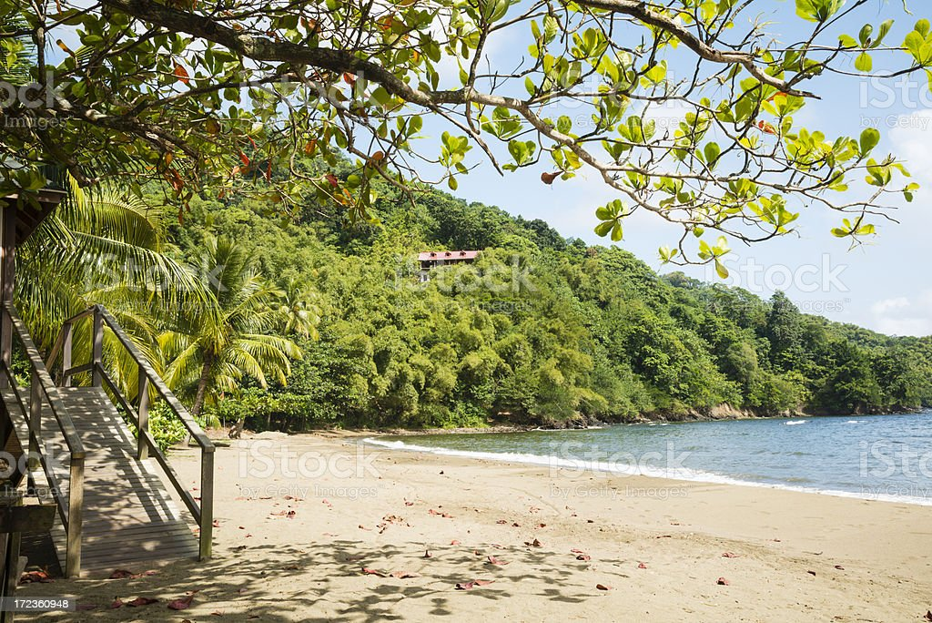 Home On The Hill Tobago royalty-free stock photo