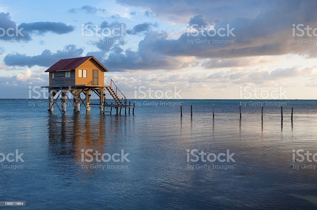 Home on the Ocean stock photo